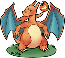#006 charizard by deadhair