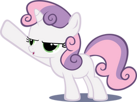 Angry Sweetie Belle by abydos91