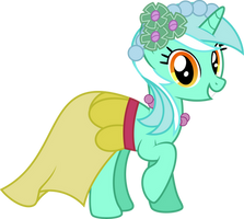 Lyra Heartstrings - Wedding Bridemaid by abydos91