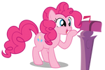 Pinkie Pie - Smiling to the Mailbox