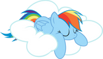 Rainbow Dash - Asleep
