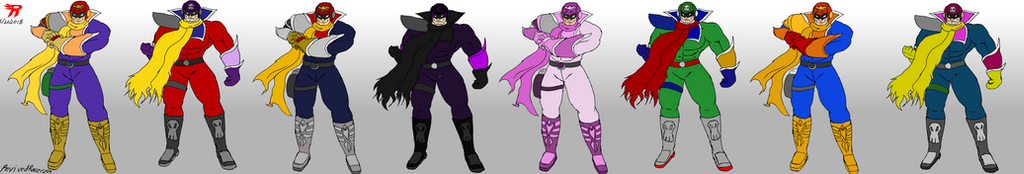 Captain Falcon potential colors and skins by Revivedracer209