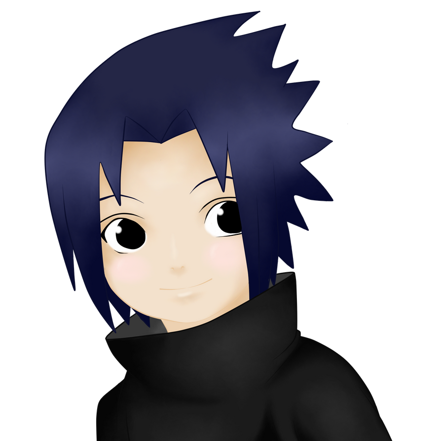 Uchiha Sasuke Cute -Colored- by Monokuro-No-Panties