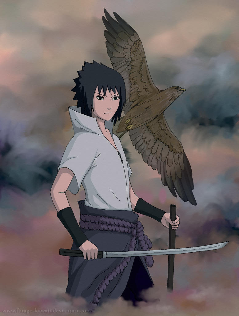 Sasuke and hawk by Futago-KawaiI