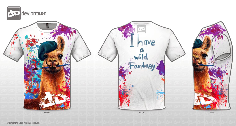 DeviantART T-Shirt Wild Llama by Futago-KawaiI