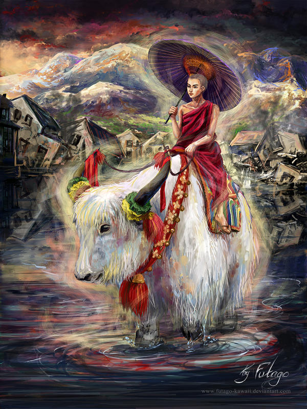 Tibetan spirit by Futago-KawaiI