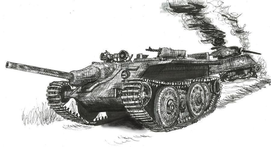 German E-10 prototype tank destroyer by shank117
