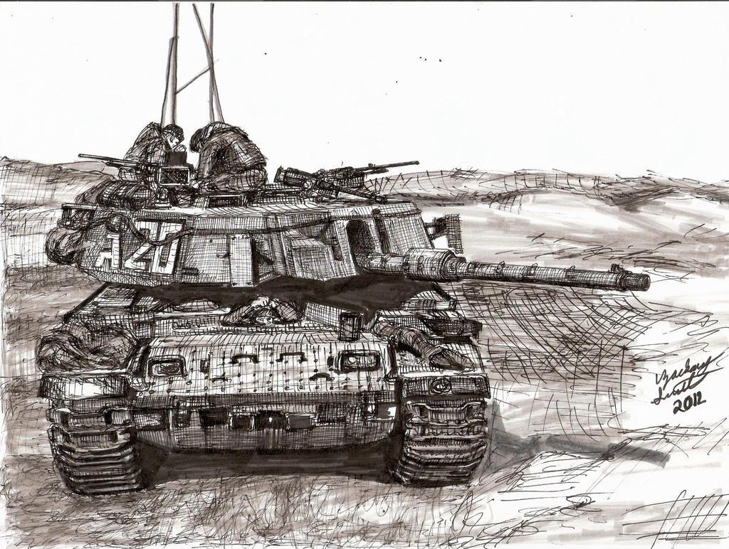 Israeli Magach 7 Tank by shank117
