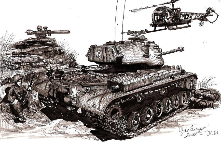 The Forgotten War M47 Patton by shank117