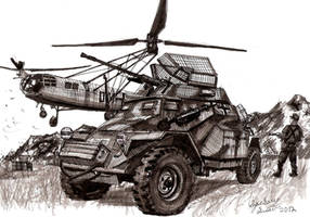 German Sd.Kfz.222 Armored Car by shank117