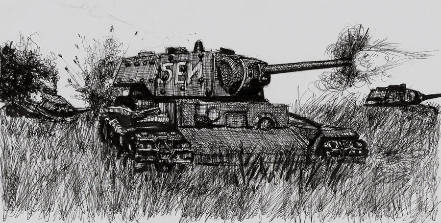 KV-1 in the Field by shank117