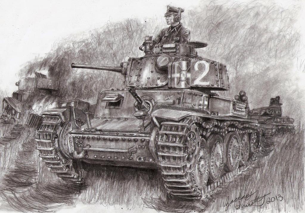 Pz 38t Auf in den Kampf by shank117