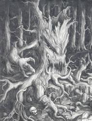 Haunted Woods by Xobius