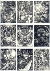 Darkfate Cards Set of 9
