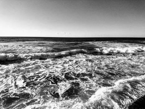 The sea near Tel-Aviv