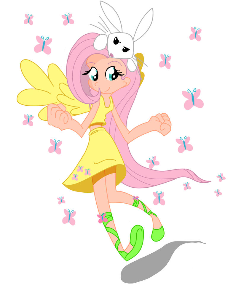 humanized ponies Fluttershy_in_the_flesh_by_rockingquix-d3f46km