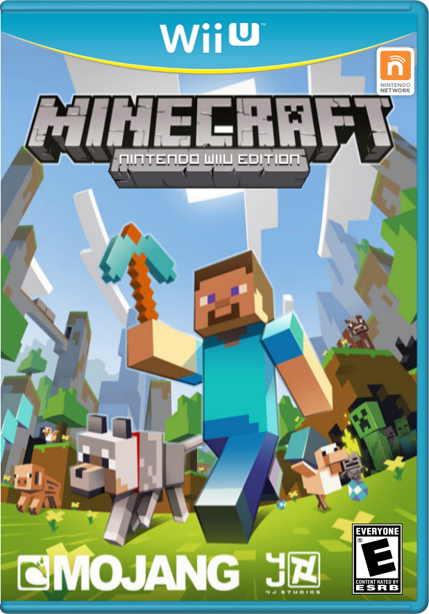 Minecraft Nintendo Wii U Edition Cover (Fanmade)