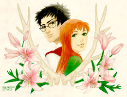 James and Lily Potter by enonea