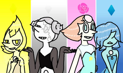 Steven Universe Pearls by CnowFlake