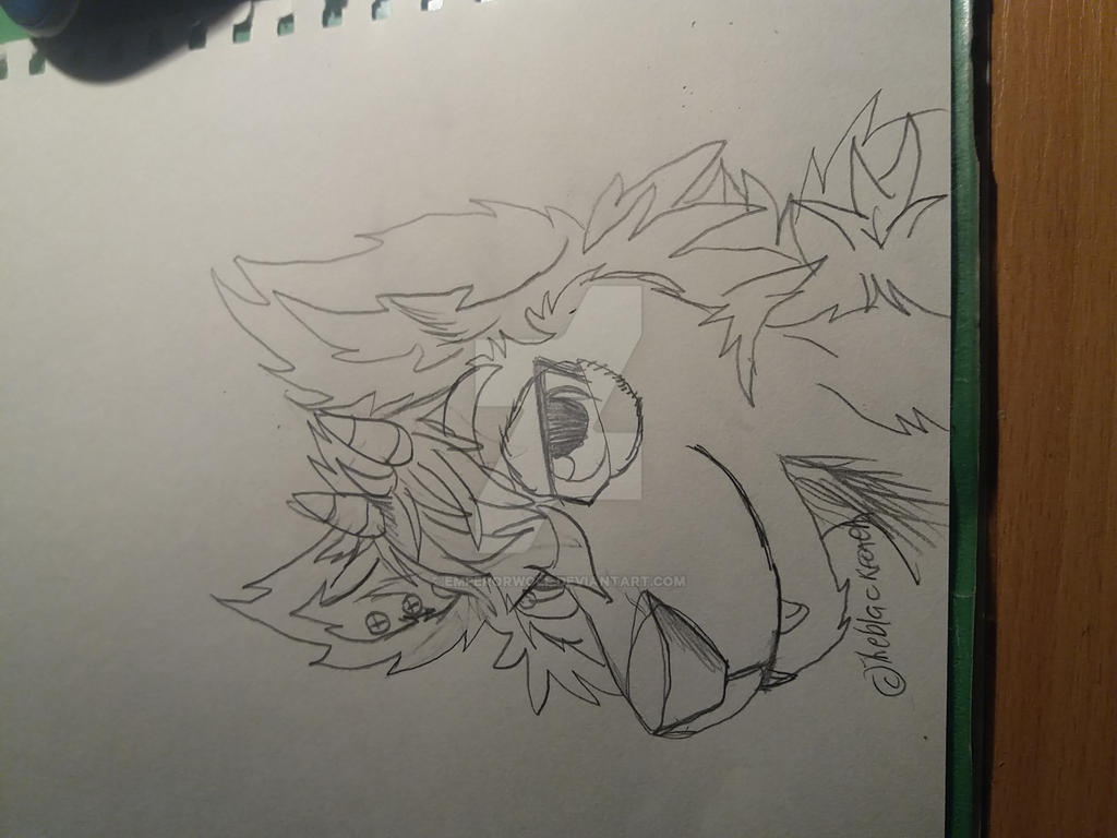 Depressed wolf drawing - photo#11