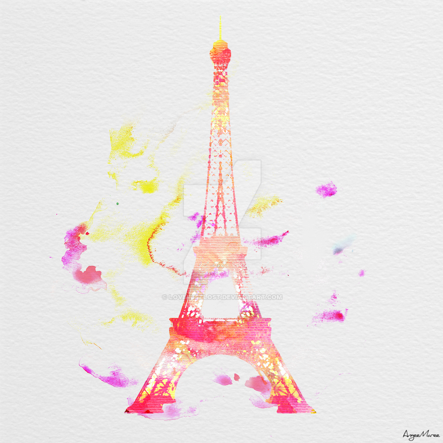 Eiffel Tower Watercolor V1 By Lovelustlost On Deviantart