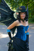 Steampunk peacock lady by Frederik82