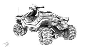 M12 LRV Warthog Wireframe