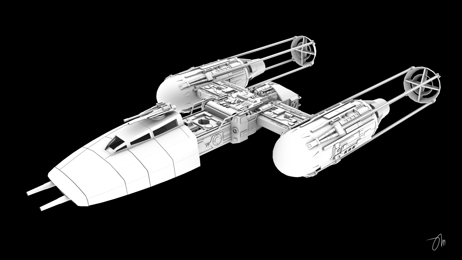 BTL Y Wing Starfighter Profile By JasonMartin3D