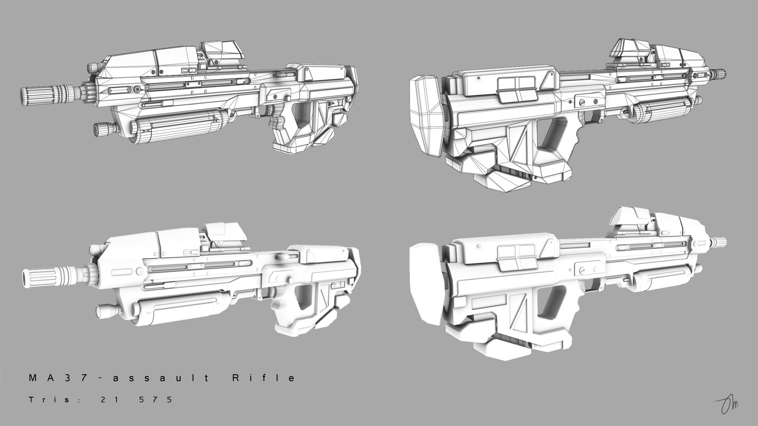 MA37 Assault Rifle by JasonMartin3D