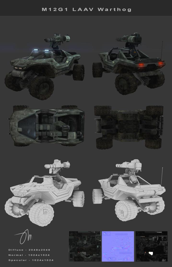 M12G1 LAAV Warthog Render by JasonMartin3D
