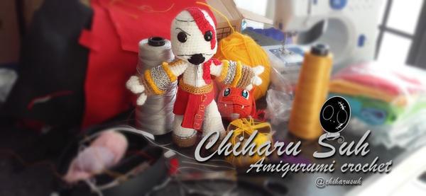Sack Boy Kratos by Amigurumi-sweetheart