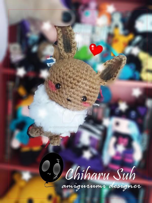 Chibi Pokemon Eevee by Amigurumi-sweetheart