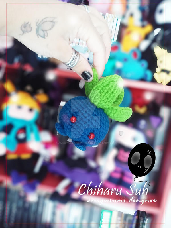 Chibi Pokemon  Oddish by Amigurumi-sweetheart