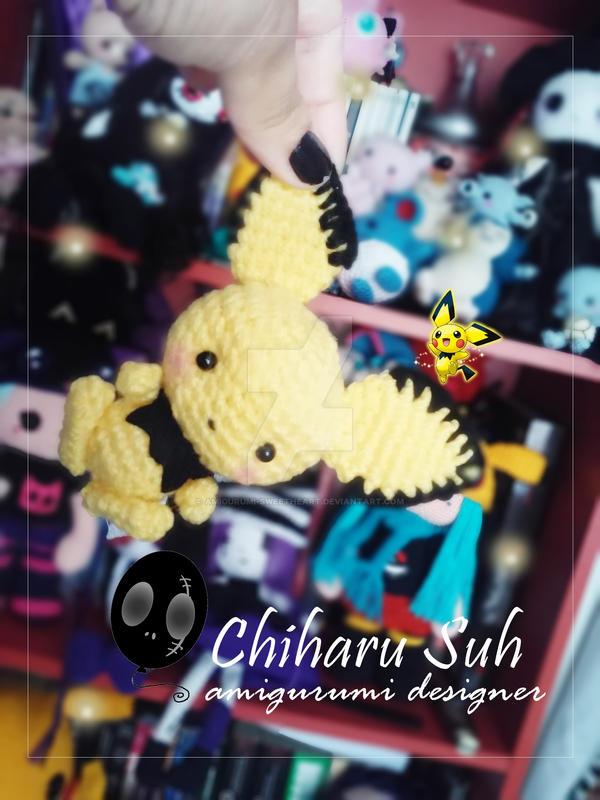 Chibi Pokemon Pichu by Amigurumi-sweetheart