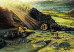 Hobbits on the Barrow-Downs by shongrek