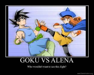 Goku vs Alena by EpitaphEater