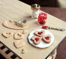 Linzer Cookie Prep Board by fairchildart