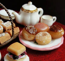 Doughnuts and Pastries by fairchildart