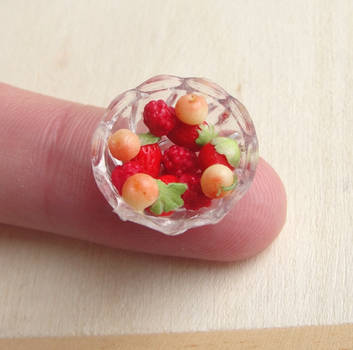 1:12 Scale Berry Cherry Bowl