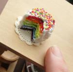 1:12 Scale Rainbow Cake