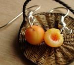 Polymer Clay Peach Earrings