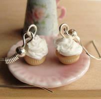 Miniature Vanilla Cupcake Earrings