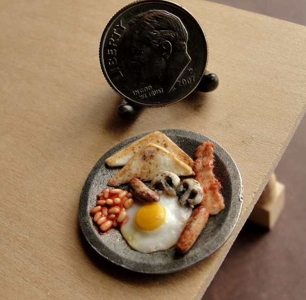 1:12 Scale English Breakfast by fairchildart