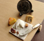 1:12 Scale Cheese and Grapes