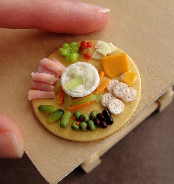 1:12 Scale Appetizer Platter Remake by fairchildart
