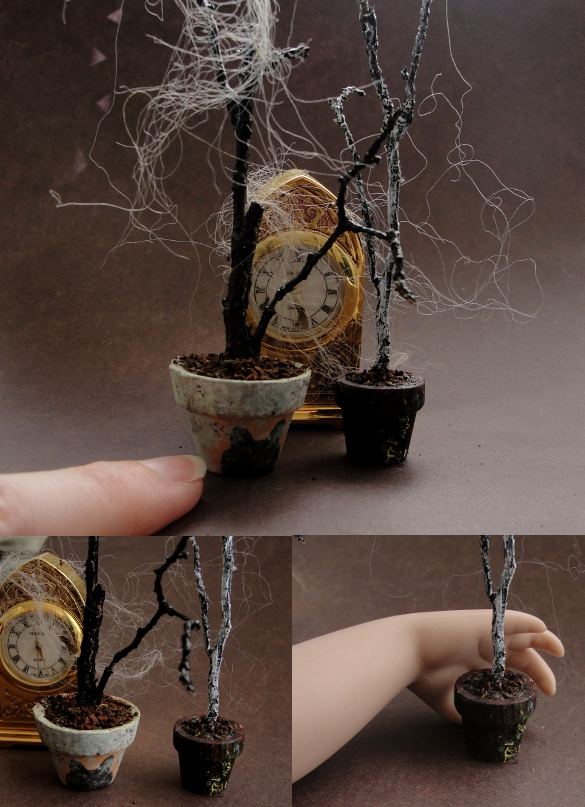 Miniature Spooky Trees by fairchildart