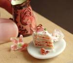 Dollhouse Strawberry Cake Slice
