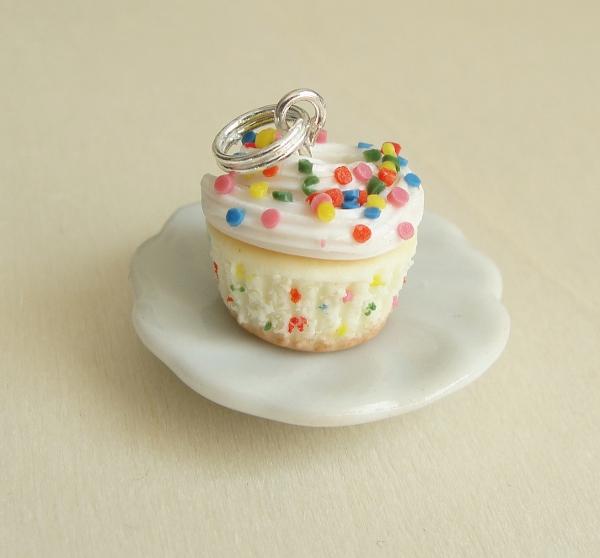 Funfetti Cupcake Pendant by fairchildart