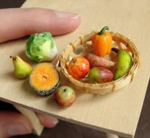 Dollhouse Produce by fairchildart