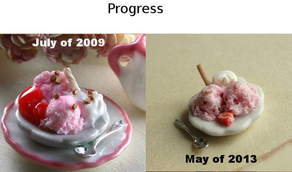 Strawberry Ice Cream Progress